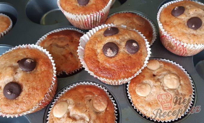 Chutné banánové muffiny s čokoládou