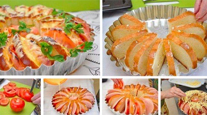 Toustový dort na snídani