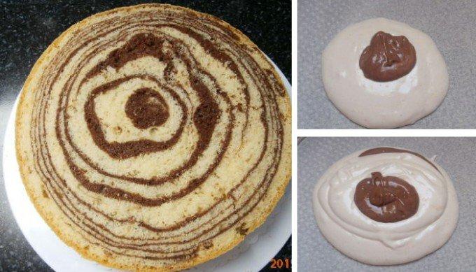 Vynikající mramorový korpus na dorty