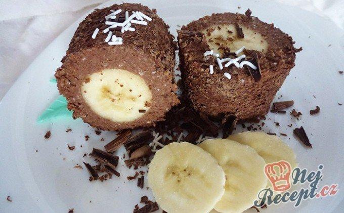 Banány v tvarohovo čokoládové náplni – FOTOPOSTUP