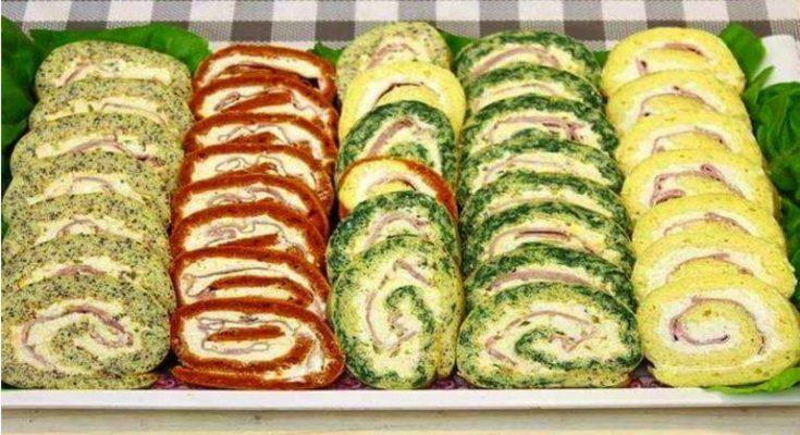 STUDENÉ slané rolády s famóznou chuťou – klasická, maková, papriková a špenátová! Pohostenie pre celú rodinu!