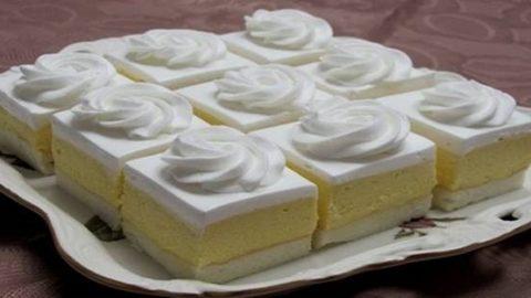 Recept od tety cukrárky: Vanilkové kocky s ananásovou príchuťou, po vybratí z chladničky sú neprekonateľné!